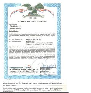 Phen375 - FDA Manfacture Certicicate