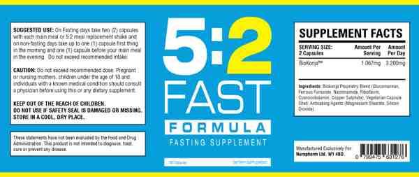 52-fast-formula-συστατικά